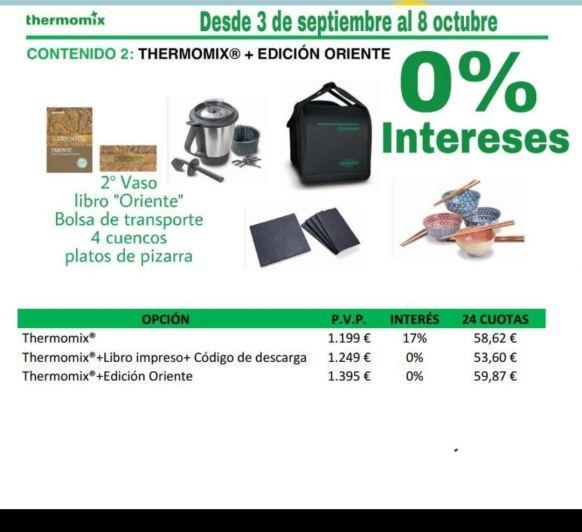 NUEVA PROMOCIÓN Thermomix® ORIENTE CON FINANCIACIÓN AL 0%