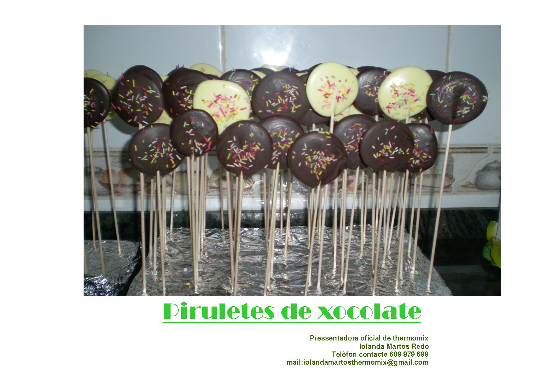PIRULETES DE XOCOLATES!!!