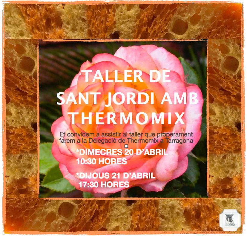 TALLER DE SANT JORDI AMB Thermomix®