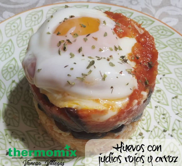 Receta Thermomix® - Timbal de Huevos con judias rojas y arroz