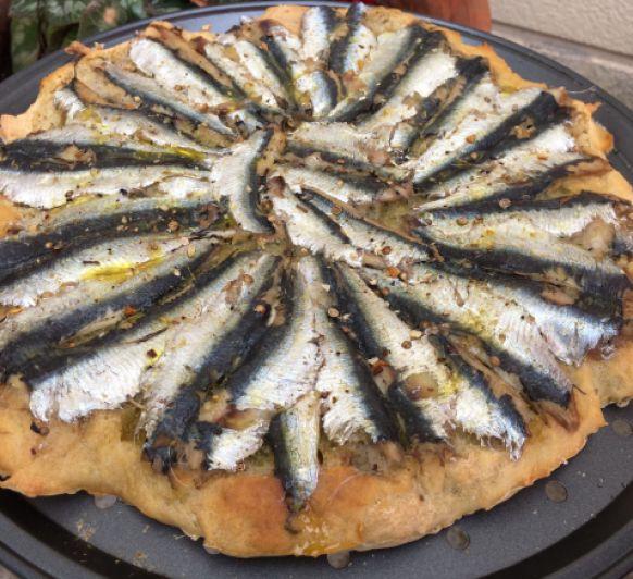 Focaccia de sardines amb Thermomix®