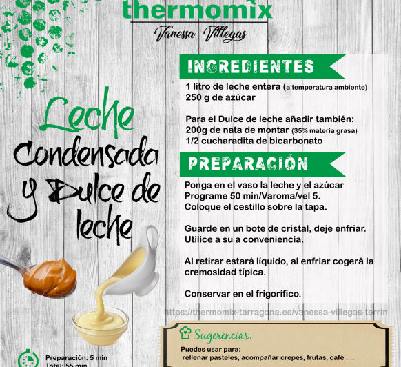 Recetas Thermomix® - Leche condensada y Dulce de leche