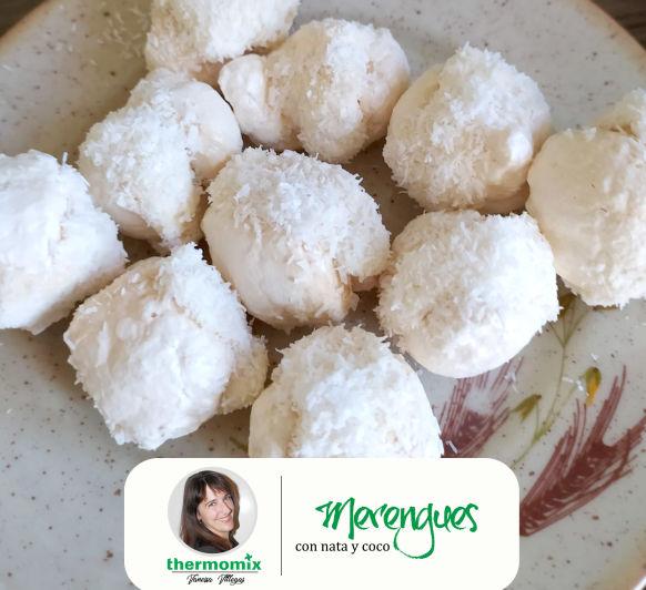 Receta Thermomix® - Merengues con nata y coco