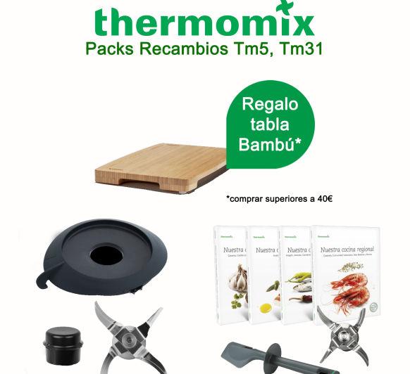 Regalo tabla de bambú* por la compra Packs de repuestos Thermomix® Tm31, Tm5 al mejor precio hasta 31 de agosto