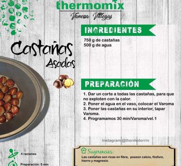 Thermomix® - castañas cocidas, asadas al Varoma
