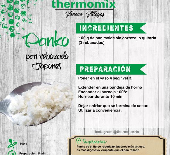 Receta Thermomix® - como hacer Panko casero