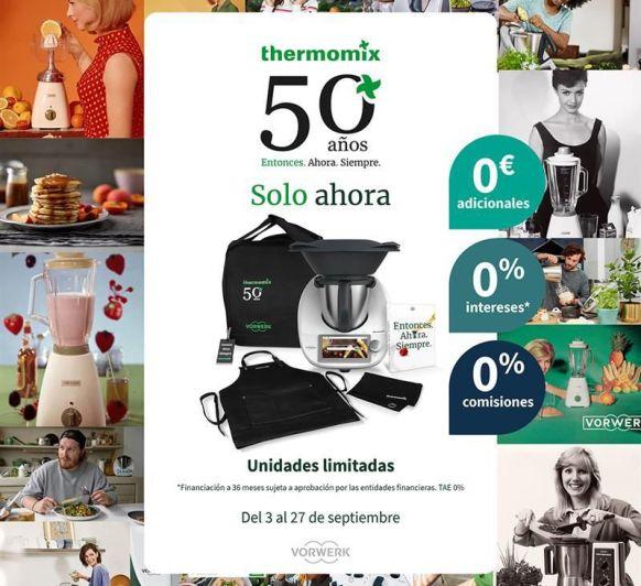 50 AÑOS DE Thermomix® , CON UNA EDICIÓN ÚNICA Y SUPER ESPECIAL. TRIPLE 0